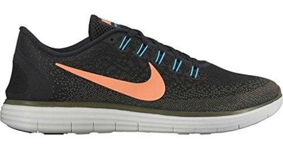 Lyst - Nike Mens Free Rn Distance Black/bright Mango-dark Loden 11.5 in  Black for Men