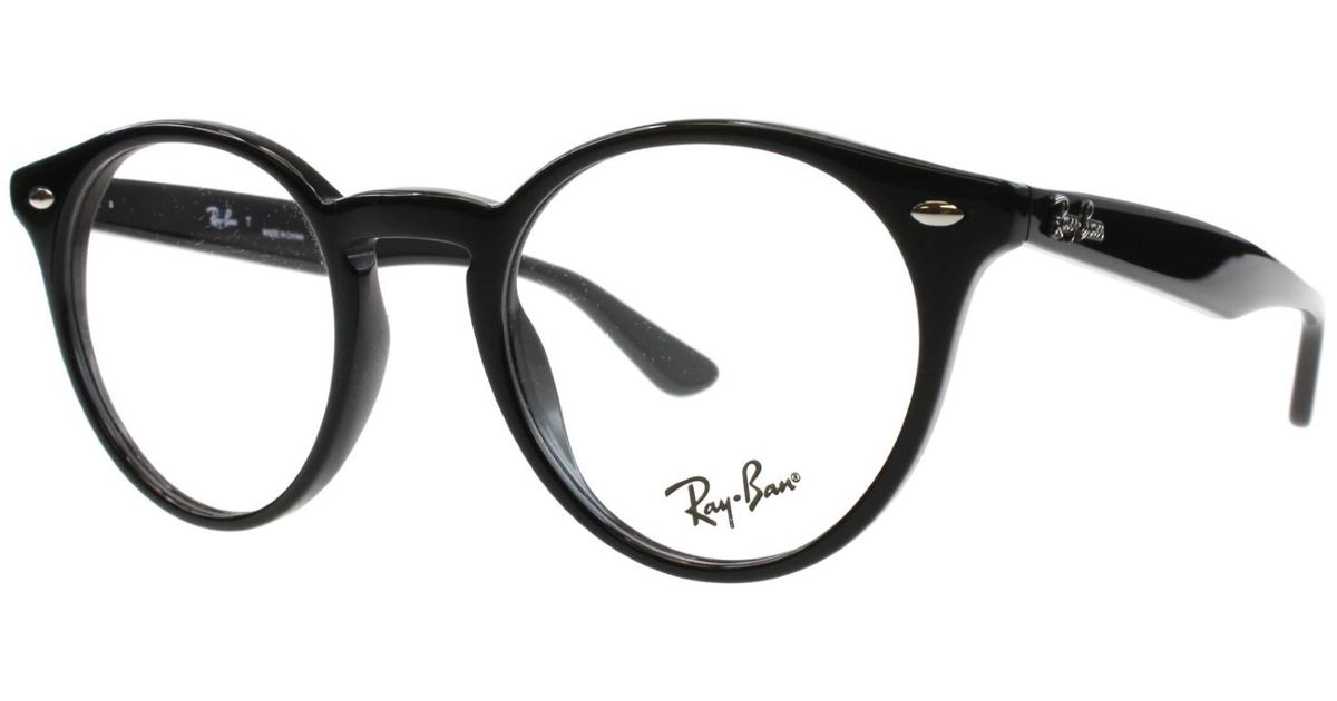 91cd903095a ... discount lyst ray ban optical 0rx2180v 2000 47 shiny black highstreet  eyeglasses in black ea10b 43cb8 ...
