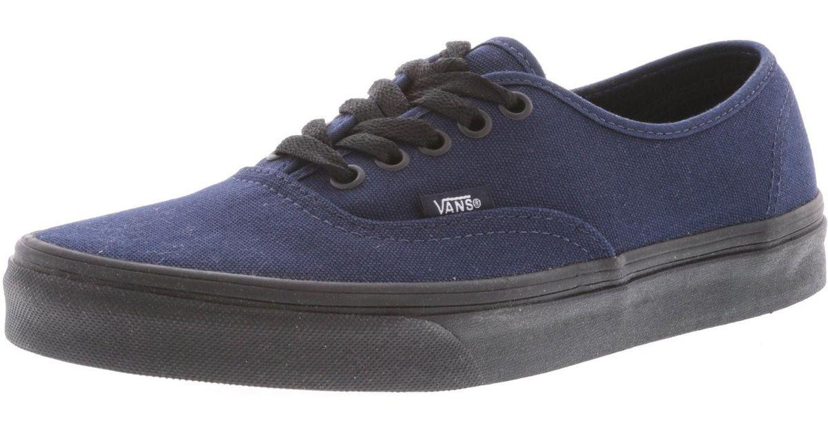 ad9153fd0e Lyst - Vans Authentic Black Sole Ankle-high Canvas Skateboarding Shoe - 10m    8.5m in Blue for Men