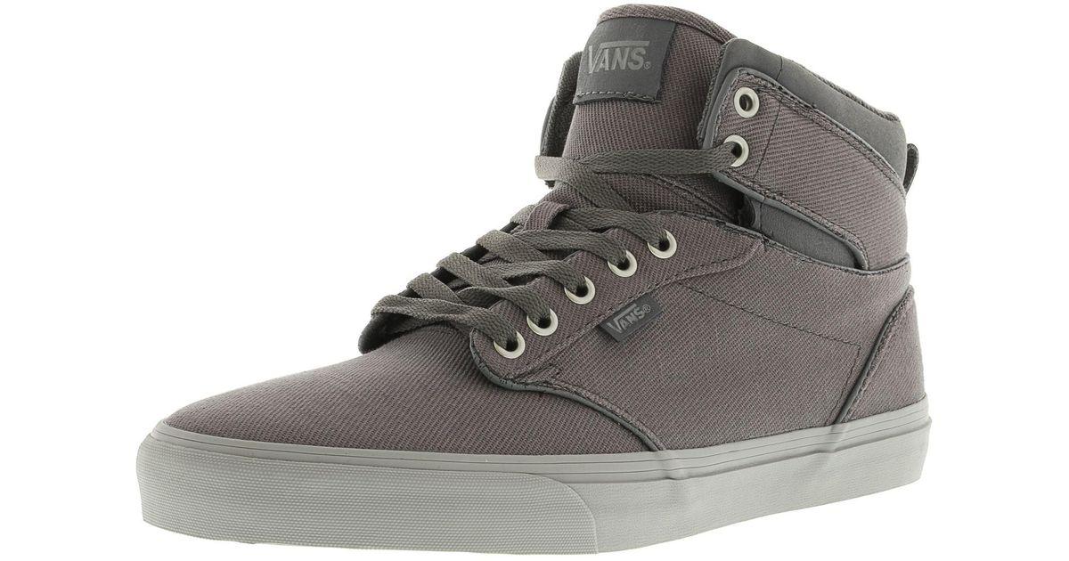 a6b1cfa11f4d Lyst - Vans Atwood Hi Men Us 10 Gray Skate Shoe in Gray for Men