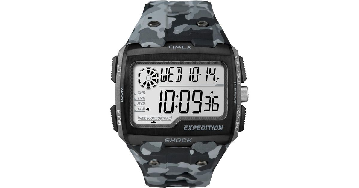 1bf211d7c34c ... Expedition Grid Shock Chronograph Watch TW4B02500  Lyst  Timex ...