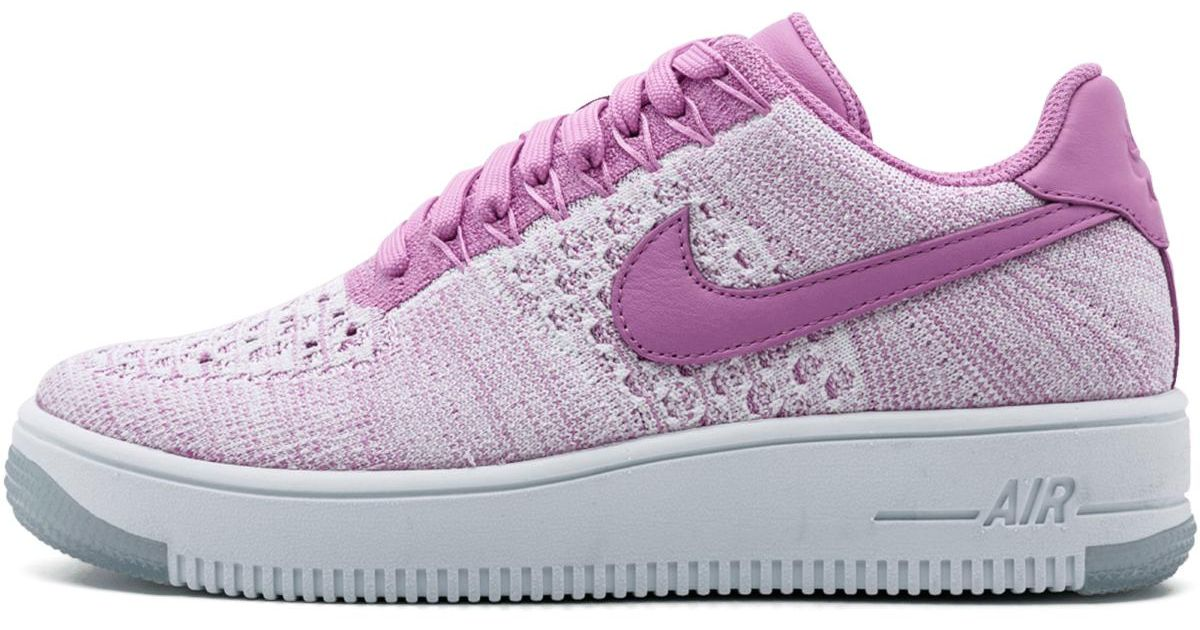 super popular fd9c2 ac3e2 Nike - Multicolor W Air Force 1 Af1 Flyknit Low Fuchsia Glow/white  820256-500 - Lyst