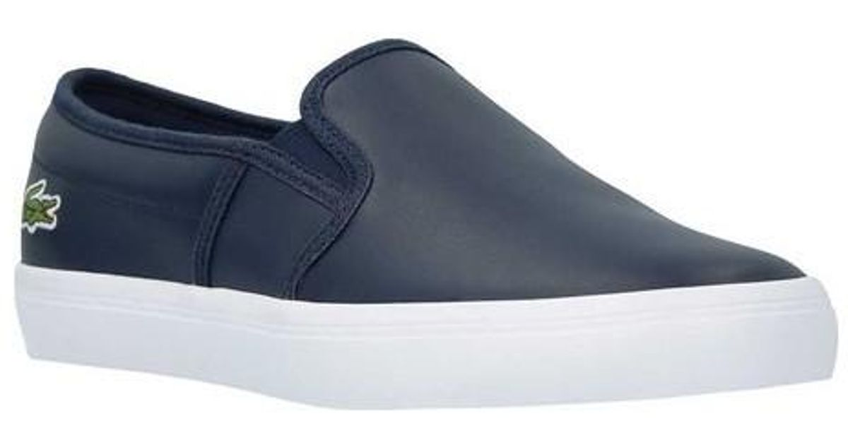 710771c3ac9e9b Lyst - Lacoste Gazon Bl 1 Slip-on in Blue for Men - Save 7%