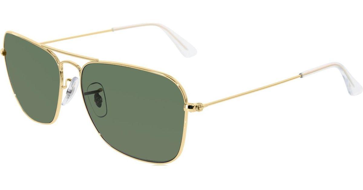 3f47bf6dc6b Lyst - Ray-Ban Caravan Arista Frame Green Lens Sunglasses Rb3136 001 58-15  in Green for Men