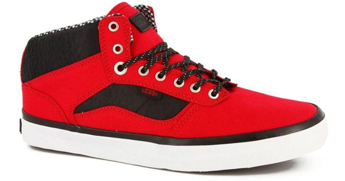 8a2c3fc054 Lyst - Vans Mens Otw Bedford Mid Sneakers Redblack 6.5 in Red for Men