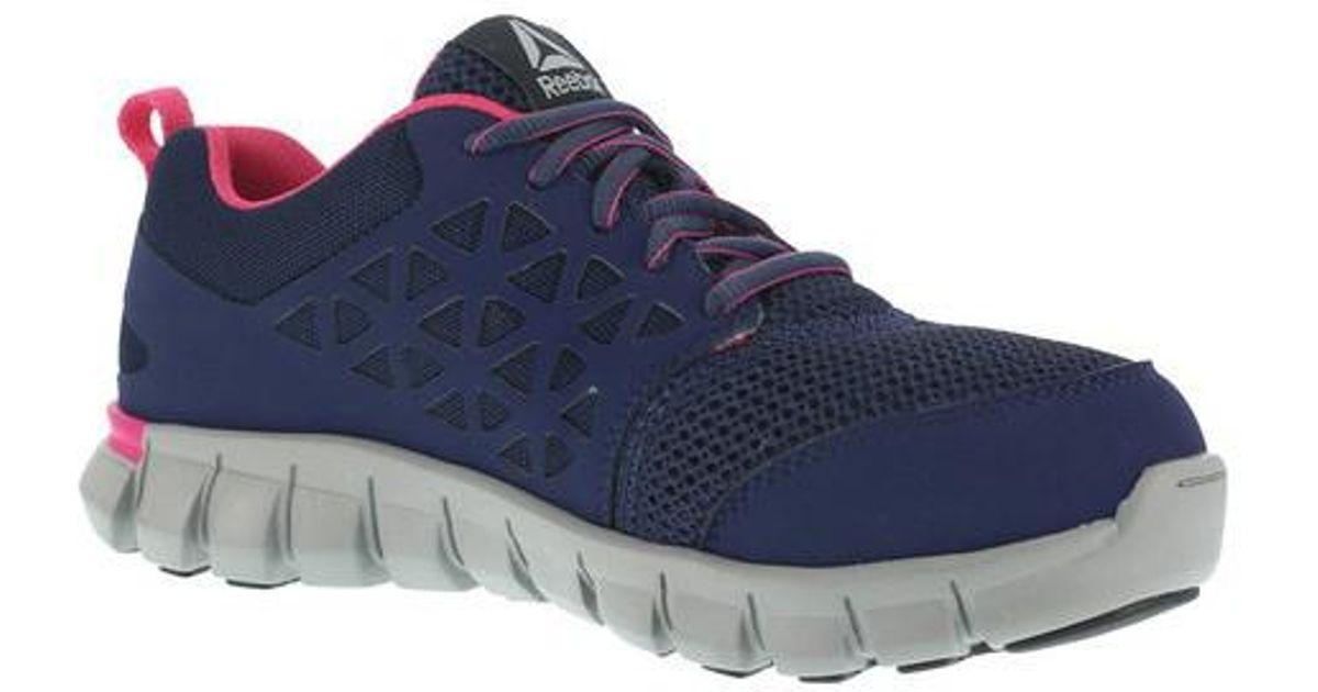 Lyst - Reebok Work Sublite Cushion Rb046 Work Sneaker in Blue for Men ce93b1d72