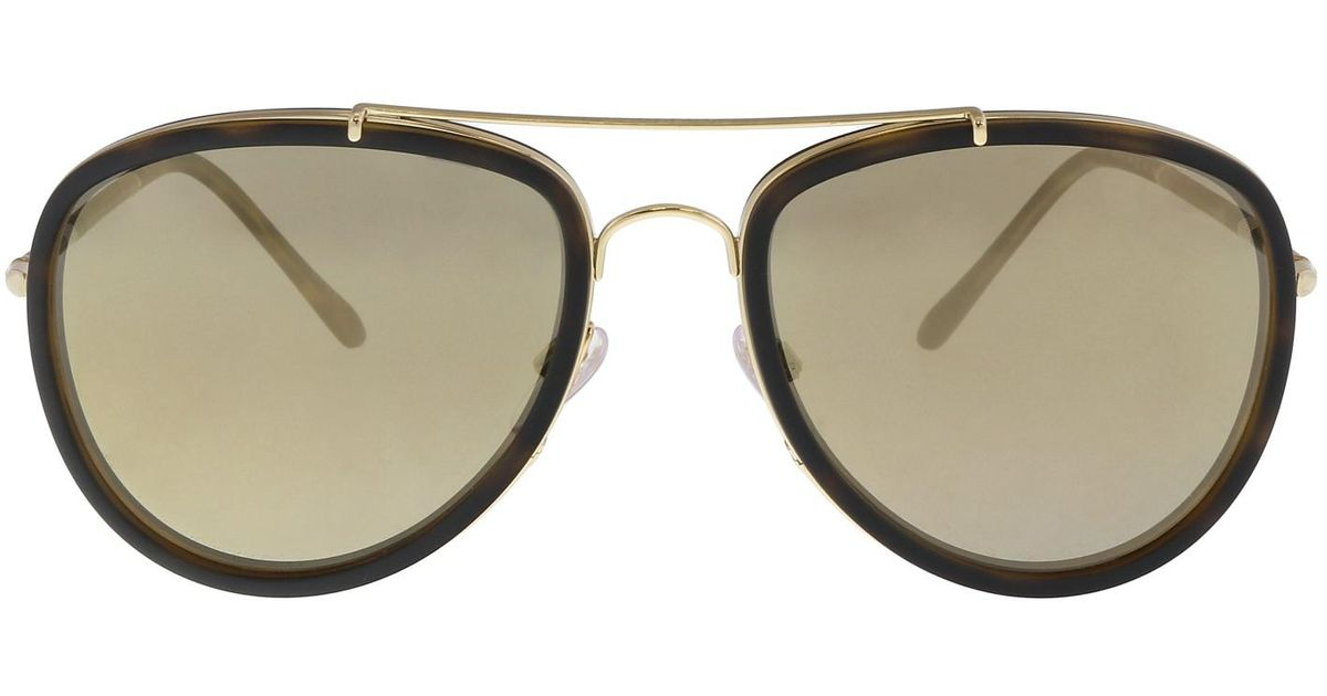 a0307f67318 Lyst - Burberry Be3090q 10525a Aviator Sunglasses in Metallic