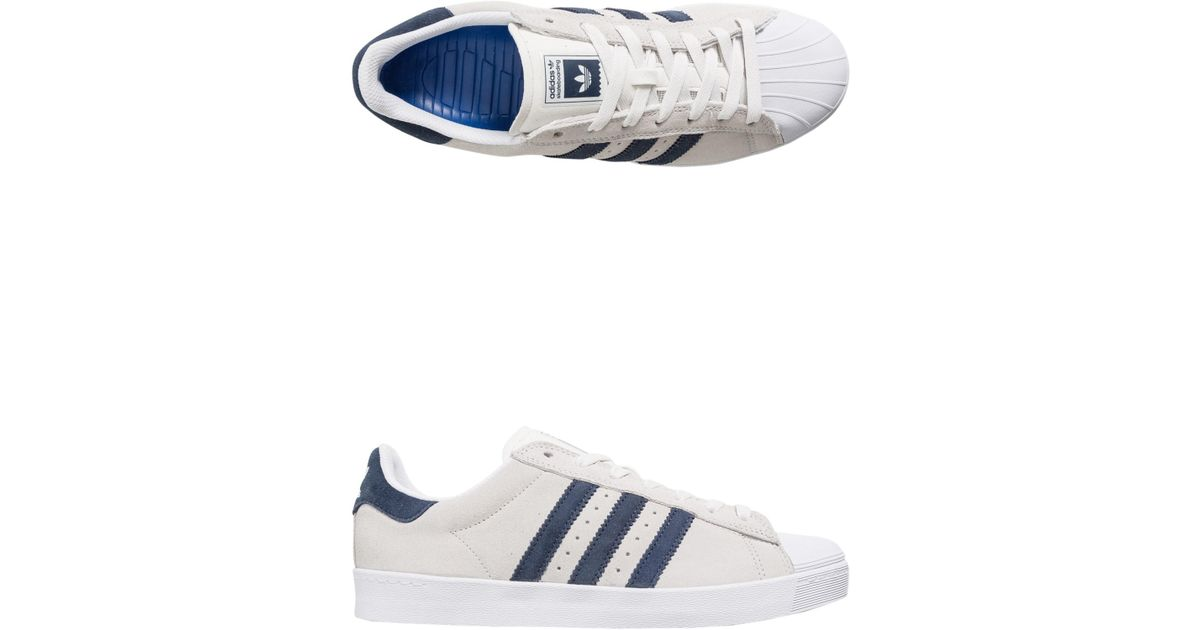 best authentic 0f770 4b0d1 Lyst - adidas Superstar Vulc Adv Crystal White  Collegiate Navy  Future  White in White for Men