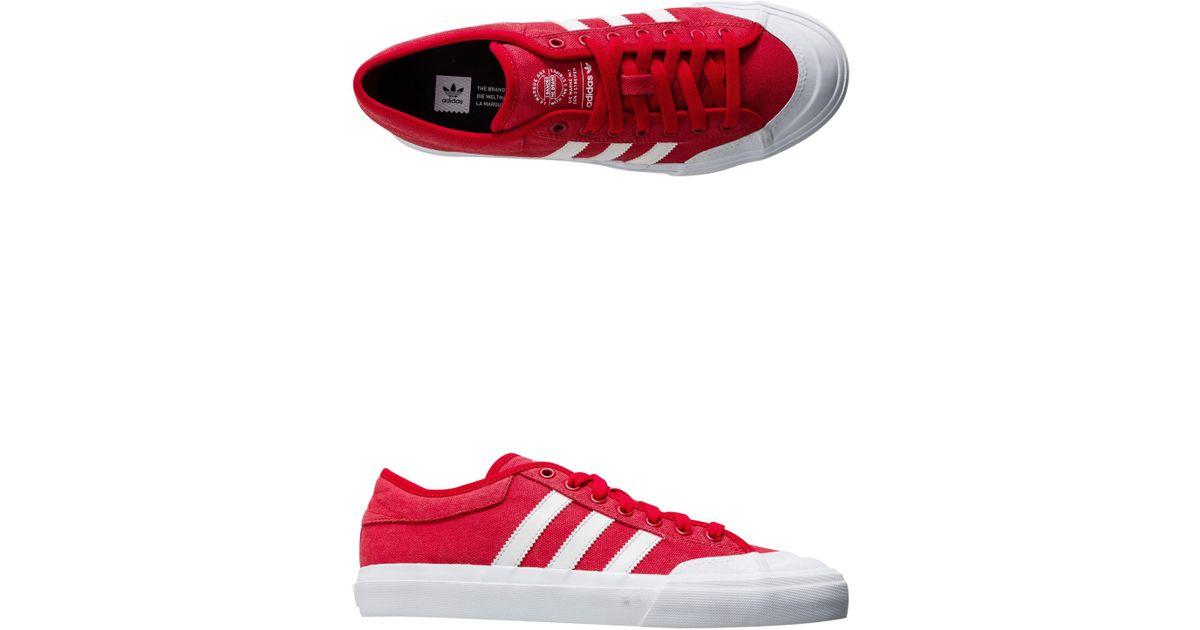 Lyst adidas matchcourt Scarle / ftwwht / gum4 skate zapatos 8 de nosotros en rojo