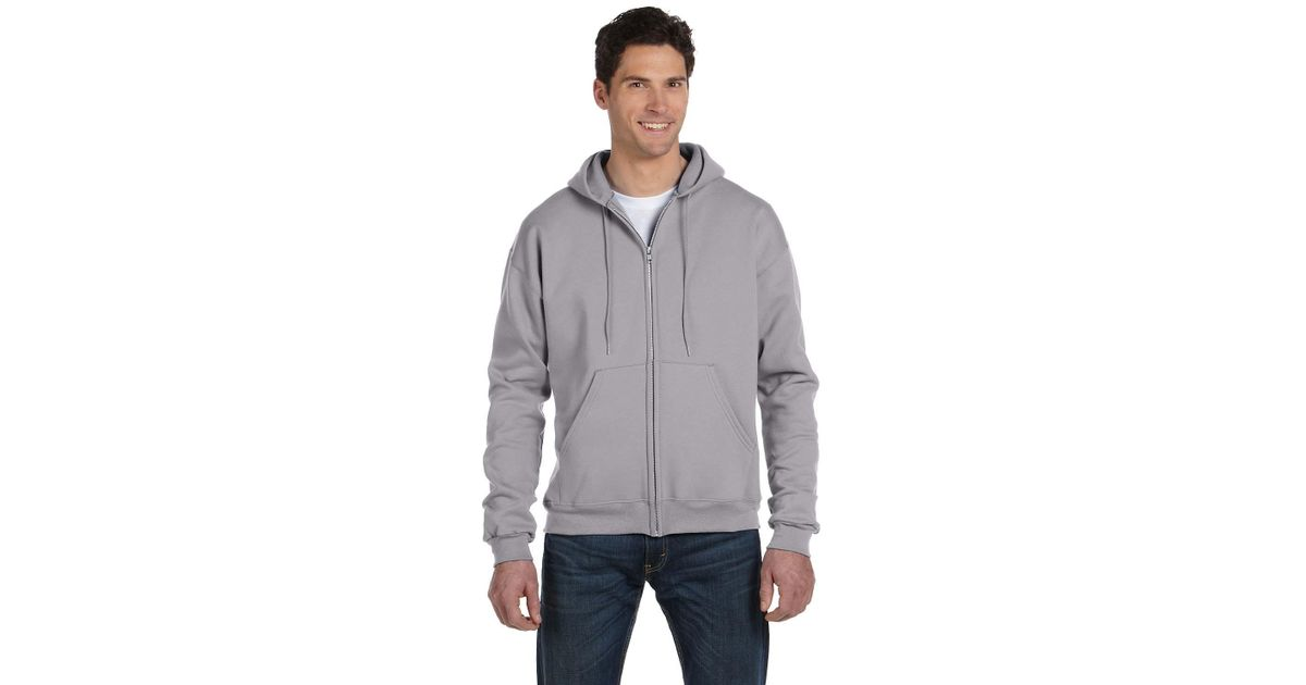 5e4b0232 Champion S800 Double Dry Eco Full-zip Hooded Sweatshirt in Gray for Men -  Lyst