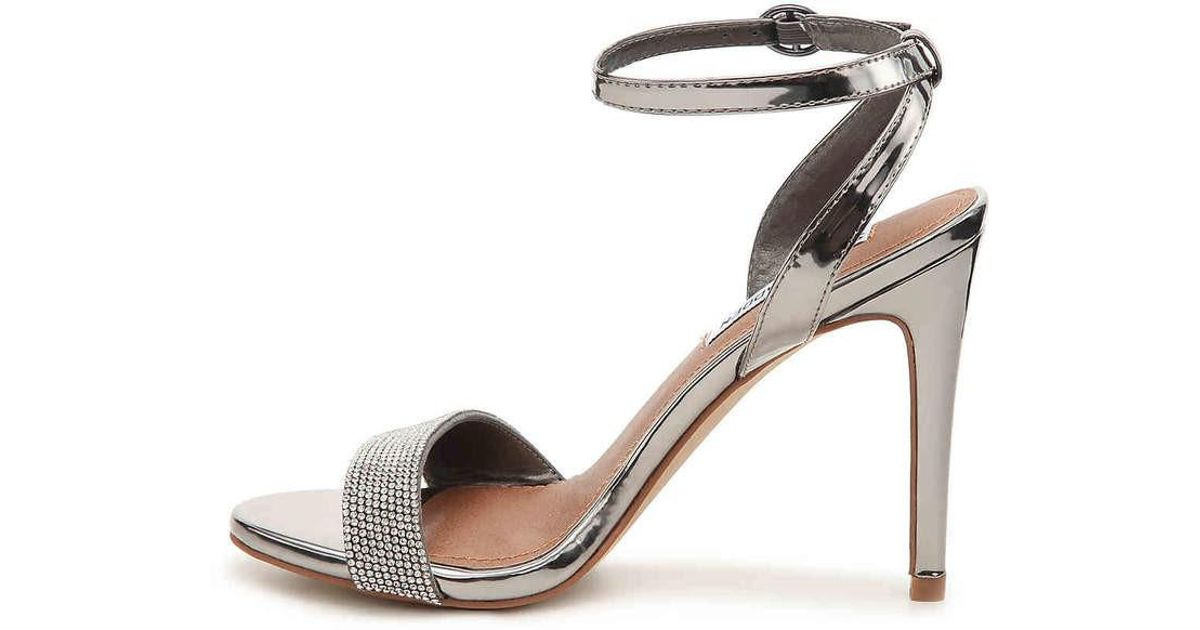caf60b32a32 Lyst - Steve Madden Ritter Fabric Open Toe Special Occasion Ankle Strap  Sandals in Metallic