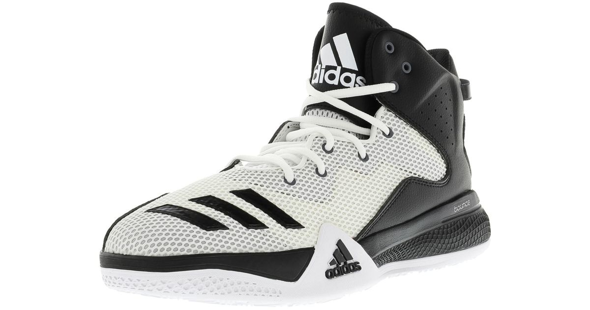 Lyst - adidas Dt Bball Mid Men Us 9 White Basketball Shoe in Black for Men 2477748aa