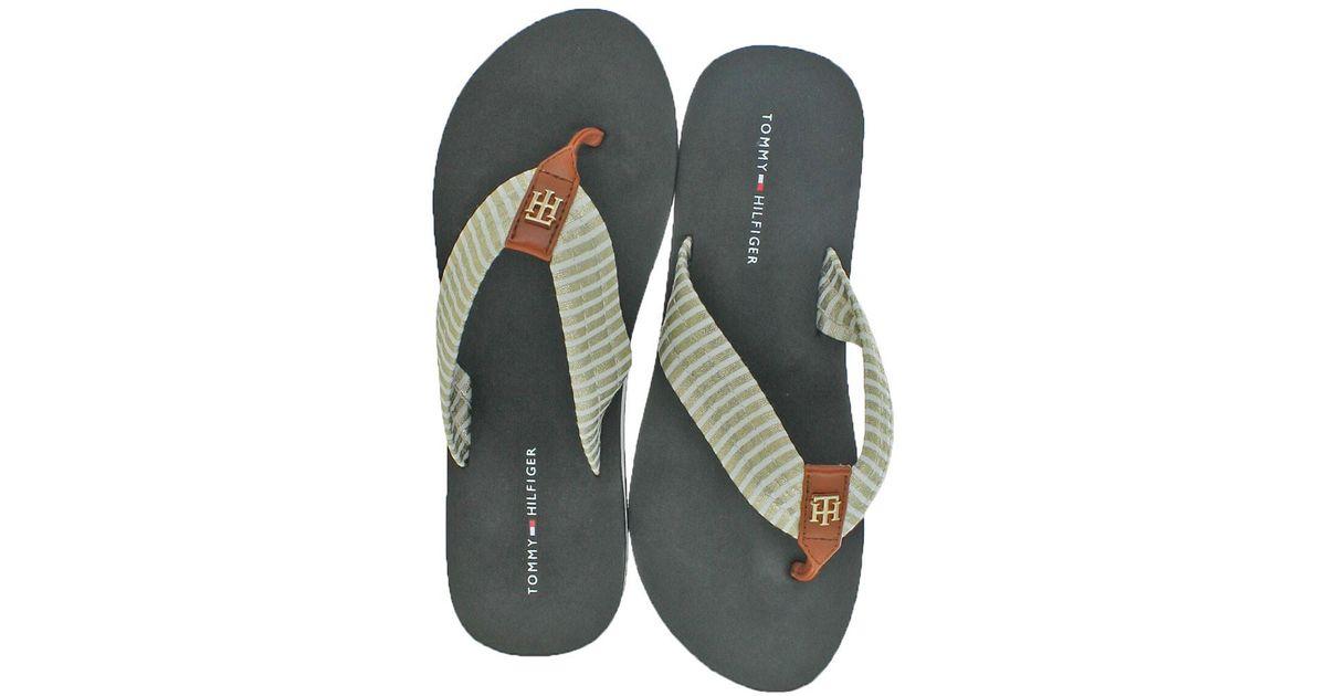 Pattern Flip-Flops - Sales Up to -50% Tommy Hilfiger LVZE0eak