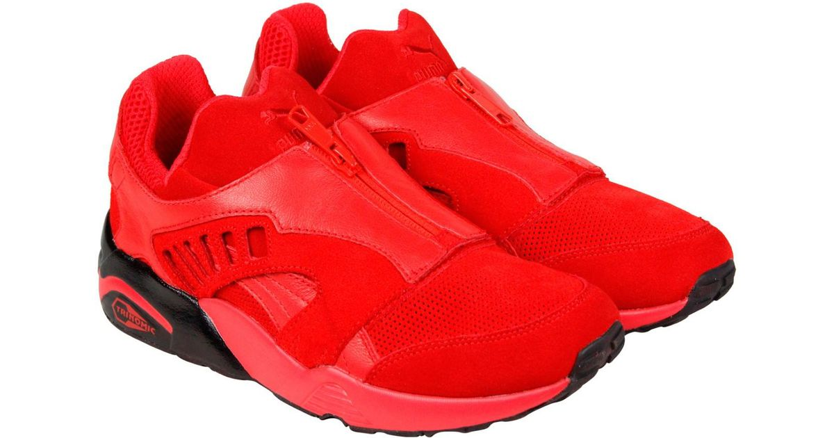 585c7a78ef37fb Lyst - PUMA Trinomic Zip High Risk Red Black Mens Lace Up Sneakers in Red  for Men