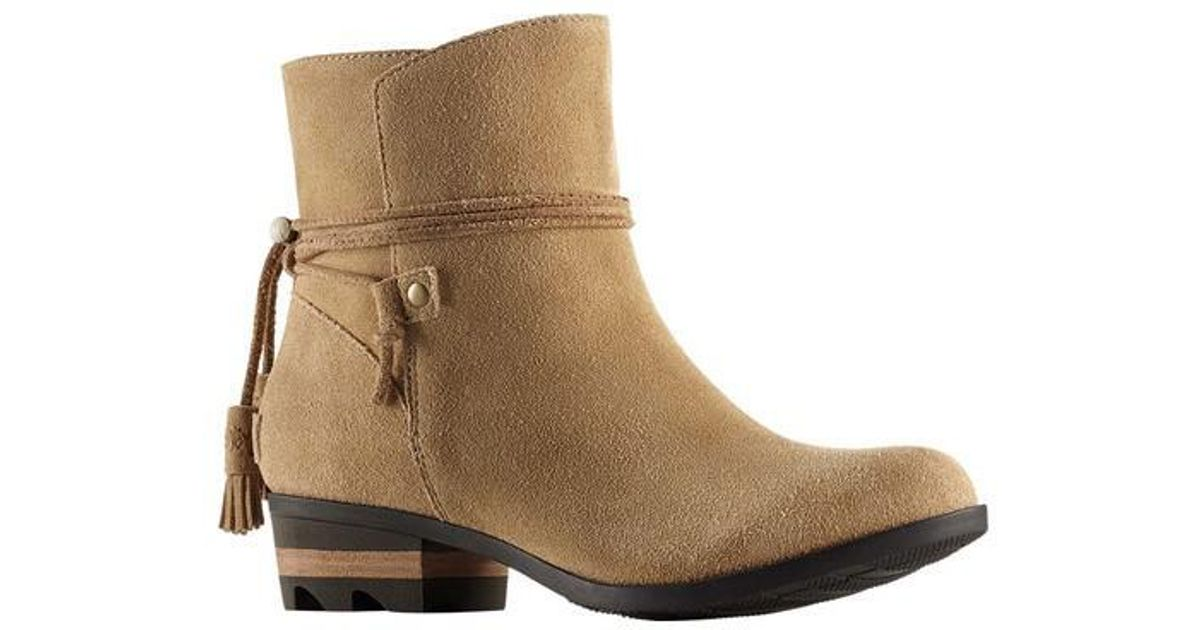 Clearance Excellent Outlet From China Sorel Farah Short Bootie(Women's) -Redwood/Hawk Suede Outlet Online jnviX30