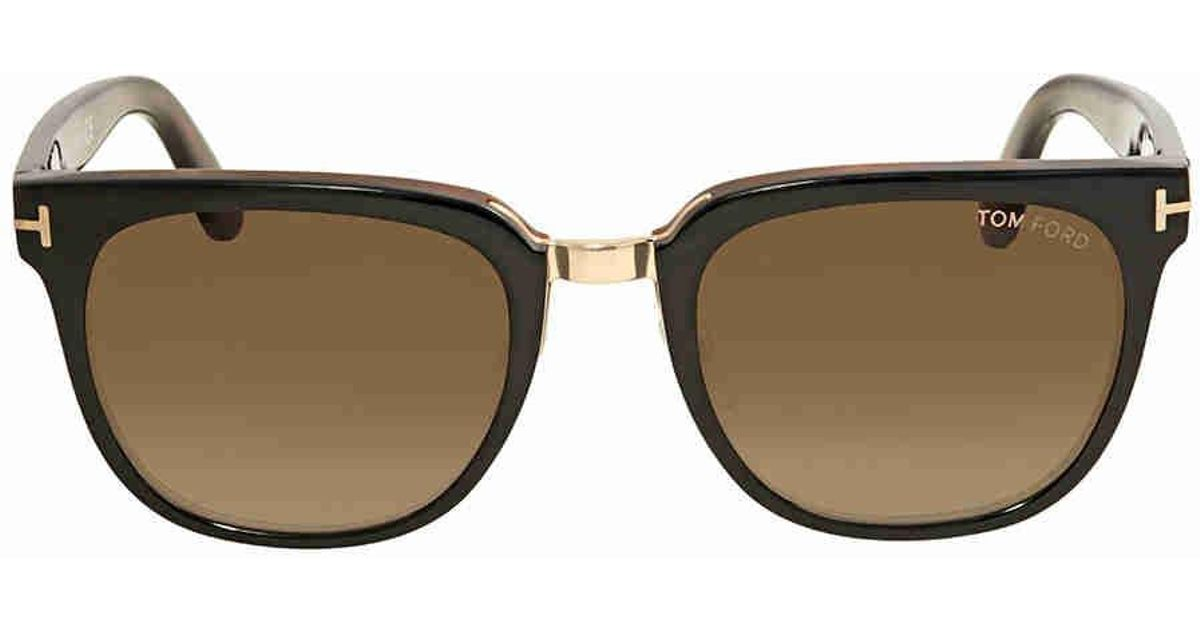 025bf047d66 Lyst - Tom Ford Rock Gradient Brown Sunglasses in Brown