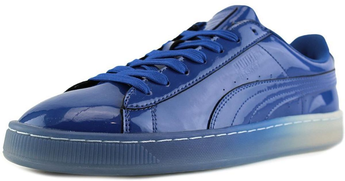 Lyst - Puma Basket Patent Ice Fade Men Us 9.5 Blue Sneakers in Blue for Men