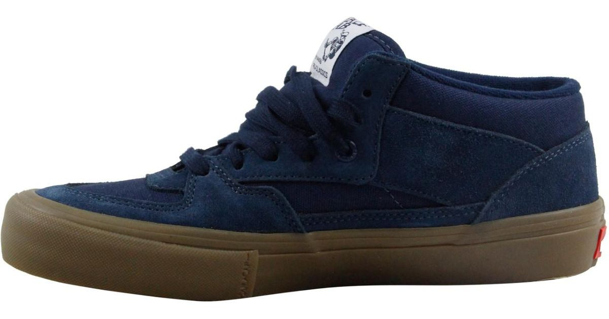 eee0f75455 Lyst - Vans Half Cab Pro Navy Gum Lace Up Sneakers in Blue for Men