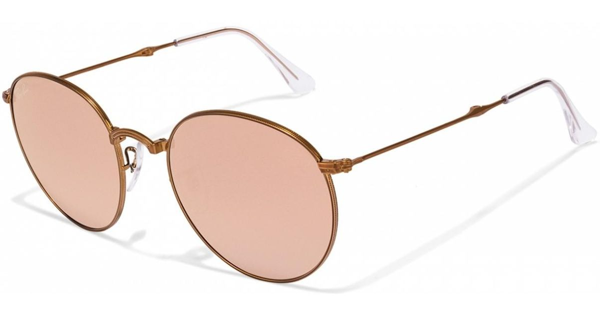 4f914e7014b Lyst - Ray-Ban 0rb3532 198 7y 47 Shiny Bronze copper Flash Gradient Icons  Sunglasses