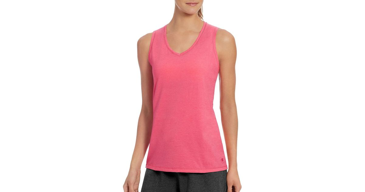 432391ca46945 Lyst - Champion Womens Vapor Solid Cotton Tank Top in Pink