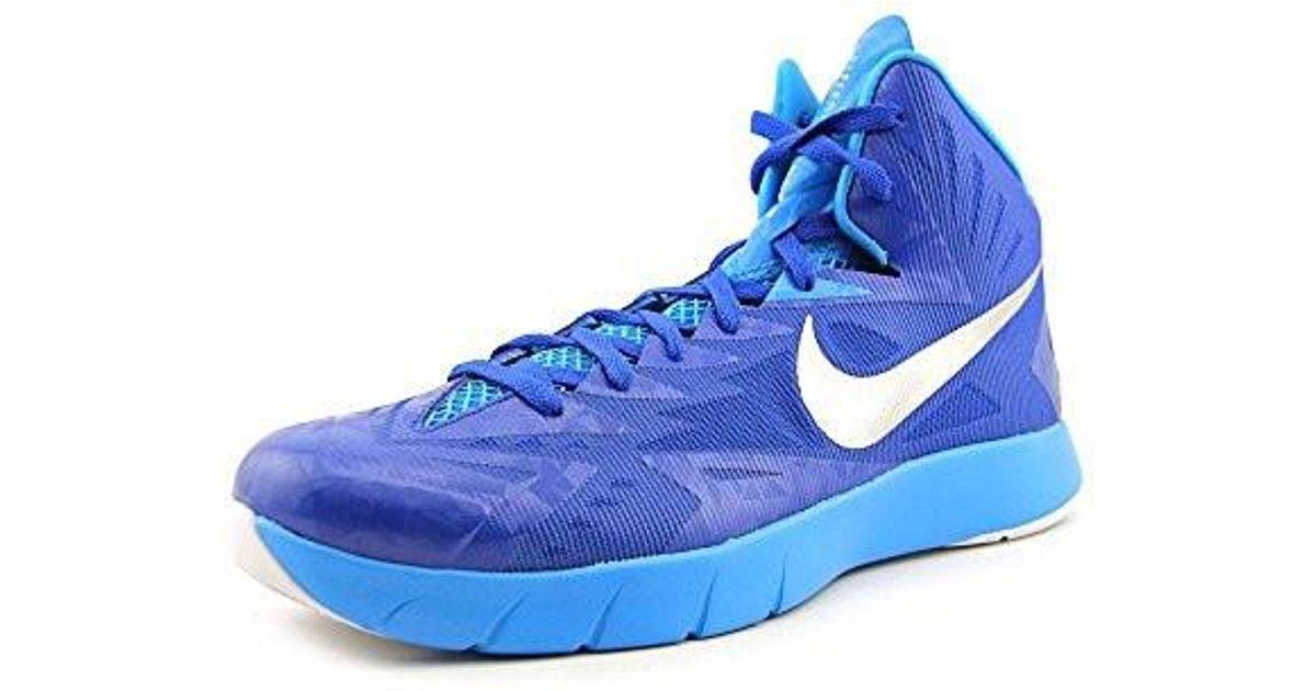 super popular 990a1 3d94c Lyst - Nike Mens Lunar Hyperquickness Tb Basketball Shoes Royal Blue silver  652775 406 (4.5 D(m) Us) in Blue for Men