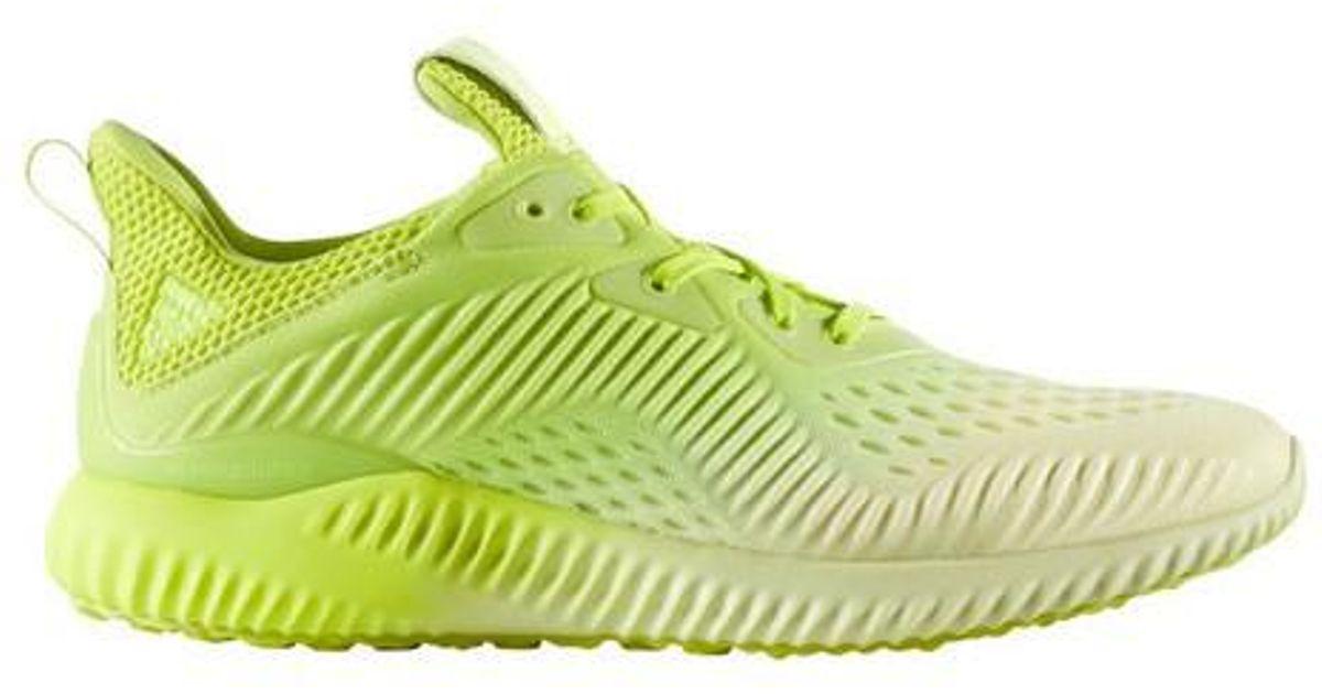 lyst adidas alphabounce em scarpa da corsa in giallo per gli uomini.