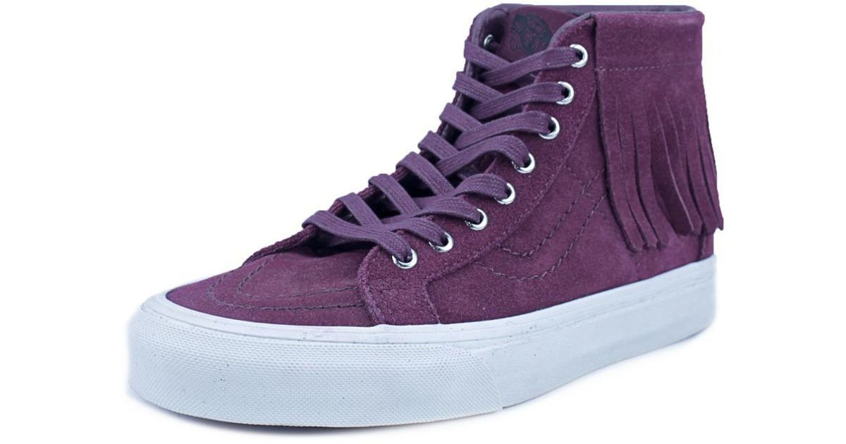 d2e00868ce Lyst - Vans Sk8 Hi Moc Women Us 8.5 Burgundy Sneakers in Purple