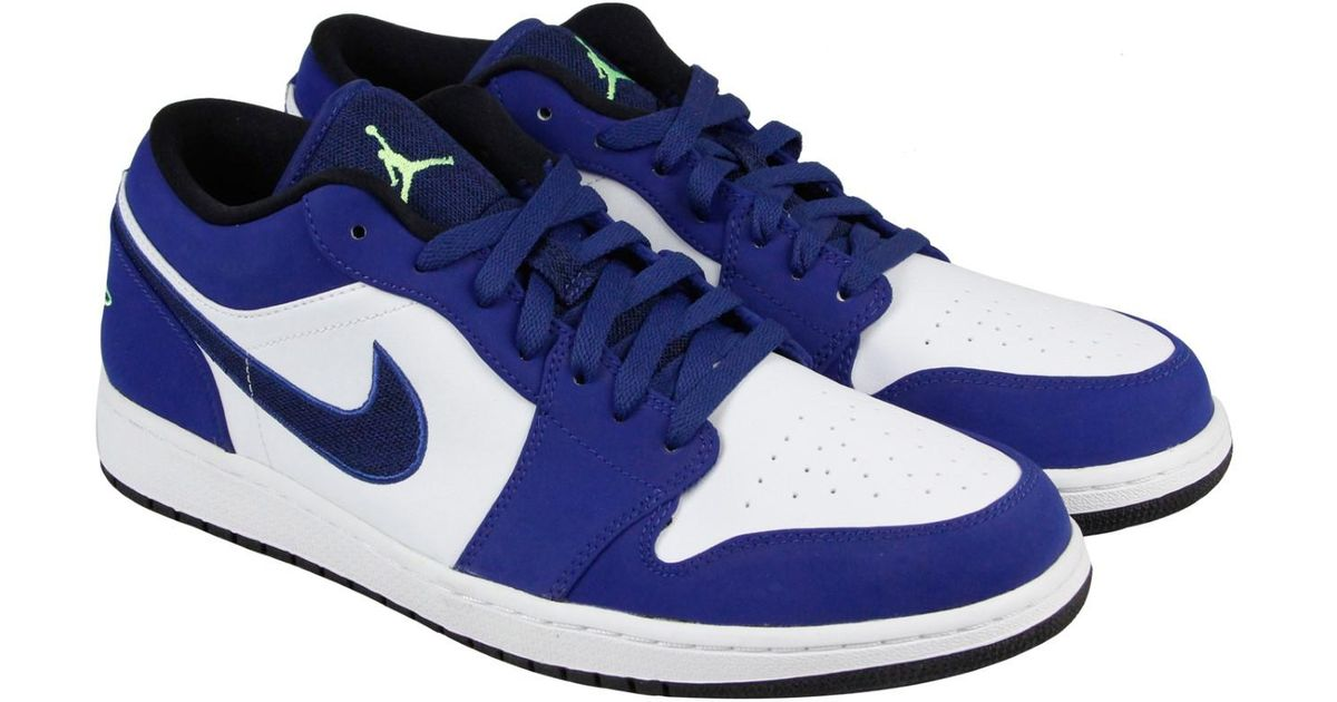 b89b63e2d847 Lyst - Nike Air Jordan 1 Low Insignia Blue Ghost Green Wolf Grey Black Mens  Lace Up Sneakers in Blue for Men