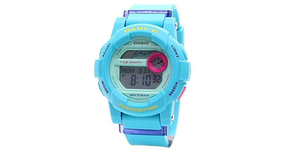 Lyst - G-Shock Baby-g Tide Graph World Time Digital Womens Watch  Bgd-180fb-2 in Blue 31cd9a55dcd3