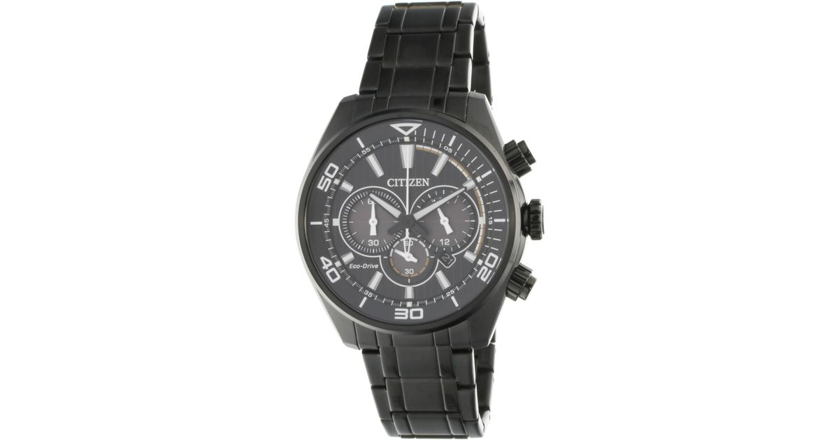 815806fa1 Citizen Eco-drive Ca4335-88e Black Stainless-steel Japanese Quartz Diving  Watch in Black for Men - Lyst