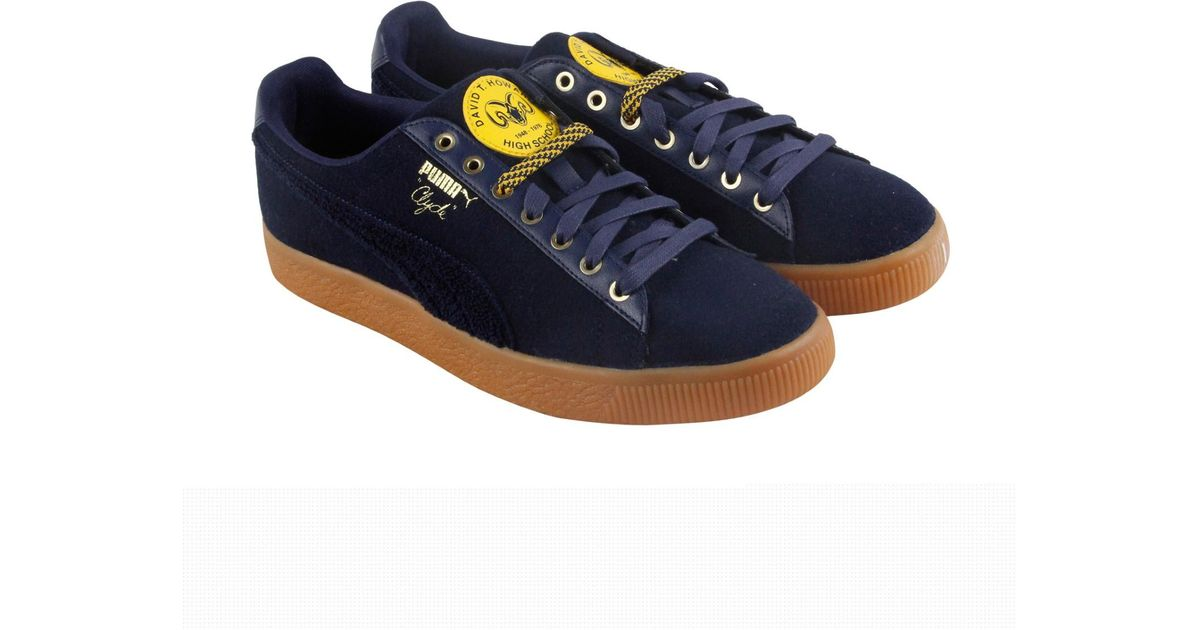 2ebddcf99df4df Lyst - PUMA Clyde Wool Bhm Casual Athletic   Sneakers in Blue for Men -  Save 17%