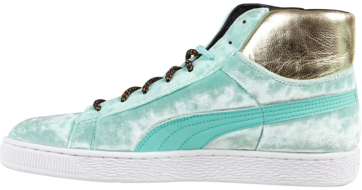 size 40 1f4a0 290fd PUMA - Basket Mid X Dee & Ricky Green Mens High Top Sneakers for Men - Lyst