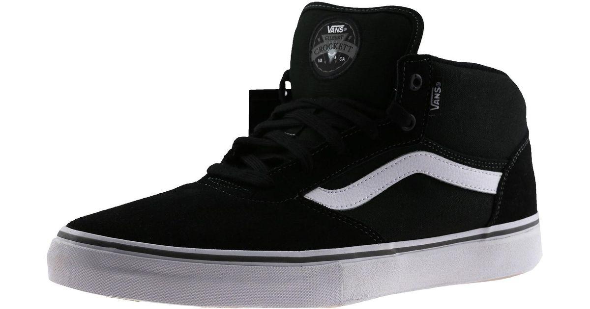 f522687347f467 Pro Gilbert Mid Shoe White Skateboarding Ankle High Crockett Men For Black  Vans Lyst q46wC