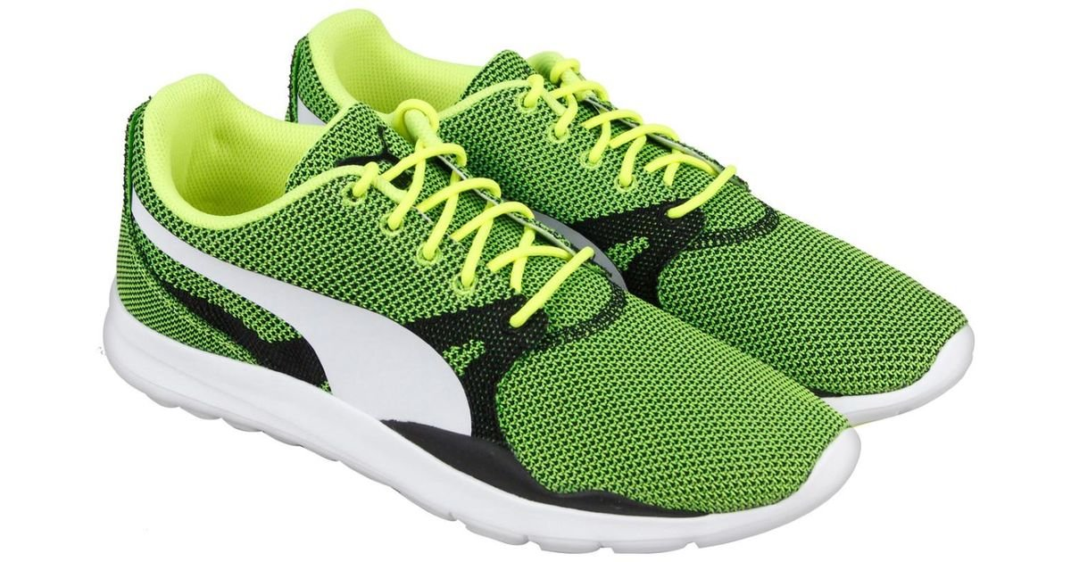 PUMA Duplex Evo Knit Safety Yellow Steel Gray Mens Athletic Running Shoes for Men Lyst