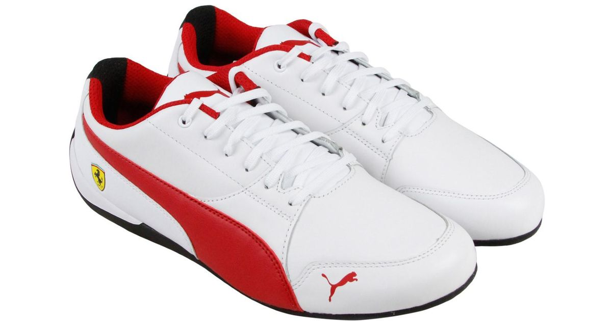 Lyst - Puma Sf Drift Cat 7 White Rosso Corsa Black Lace Up Sneakers for Men c3c9c2676