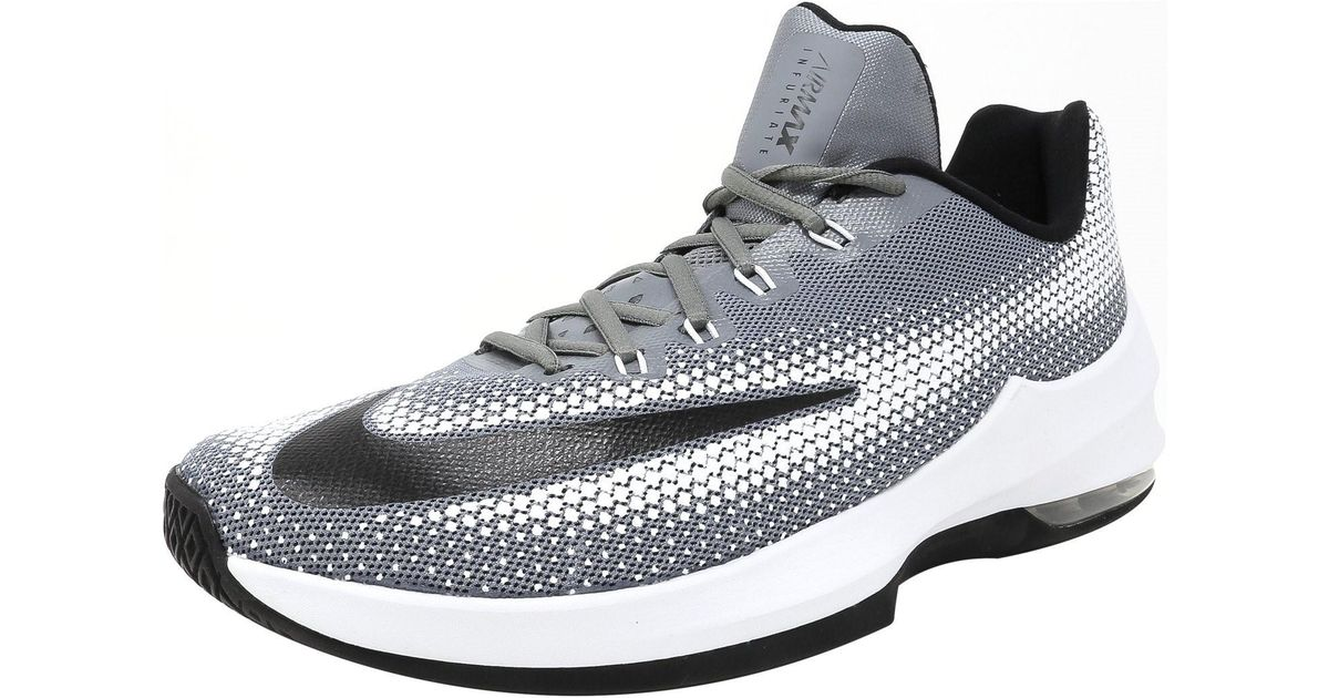 6be32738acc1 Lyst - Nike Air Max Infuriate Low Ankle-high Basketball Shoe - 9.5m in Gray  for Men
