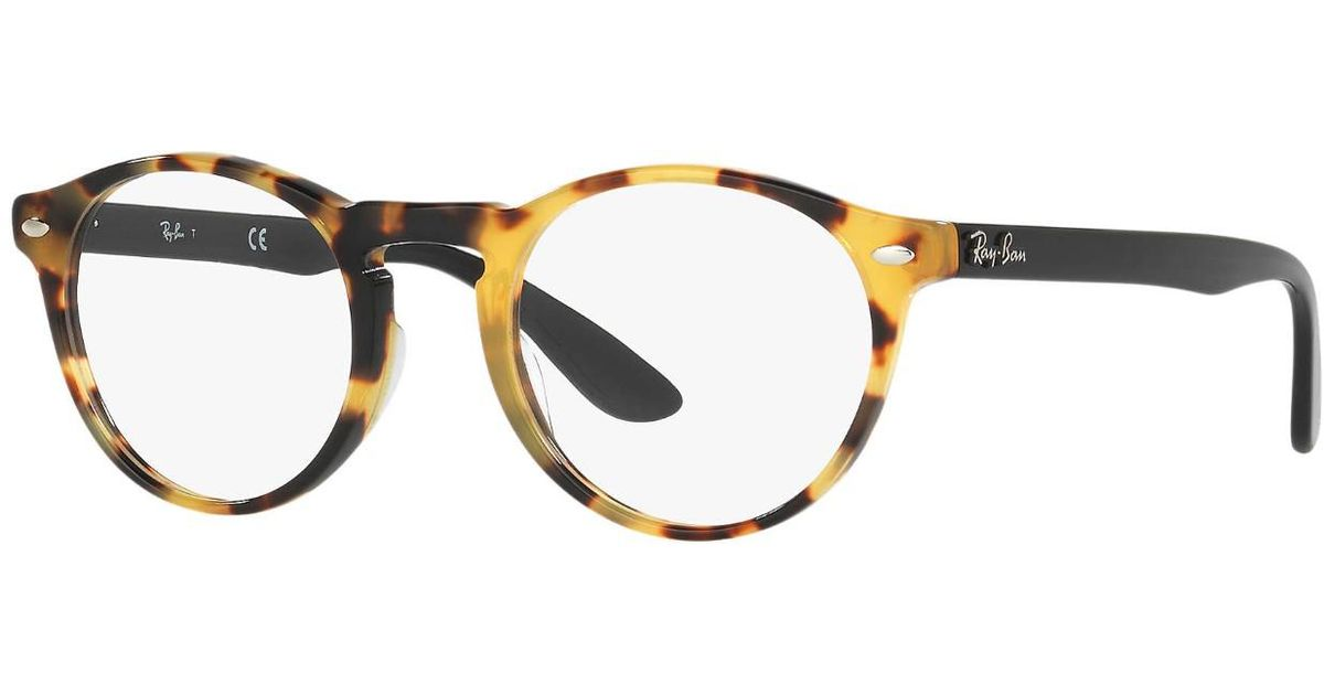 07ac86dd21 Lyst - Ray-Ban Optical 0rx5283f 5608 51 Yellow Havana Icons Eyeglasses in  Brown