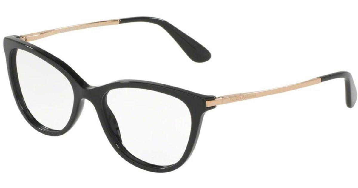 2260bf7f8d94 Lyst - Dolce   Gabbana Dolce gabbana Dg3258 Eyeglass Frames 501-52 in Black