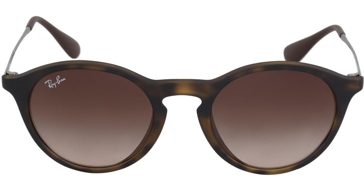 be4283bb0c8 Lyst - Ray-Ban Round Sunglasses Rb4243f 86513 49