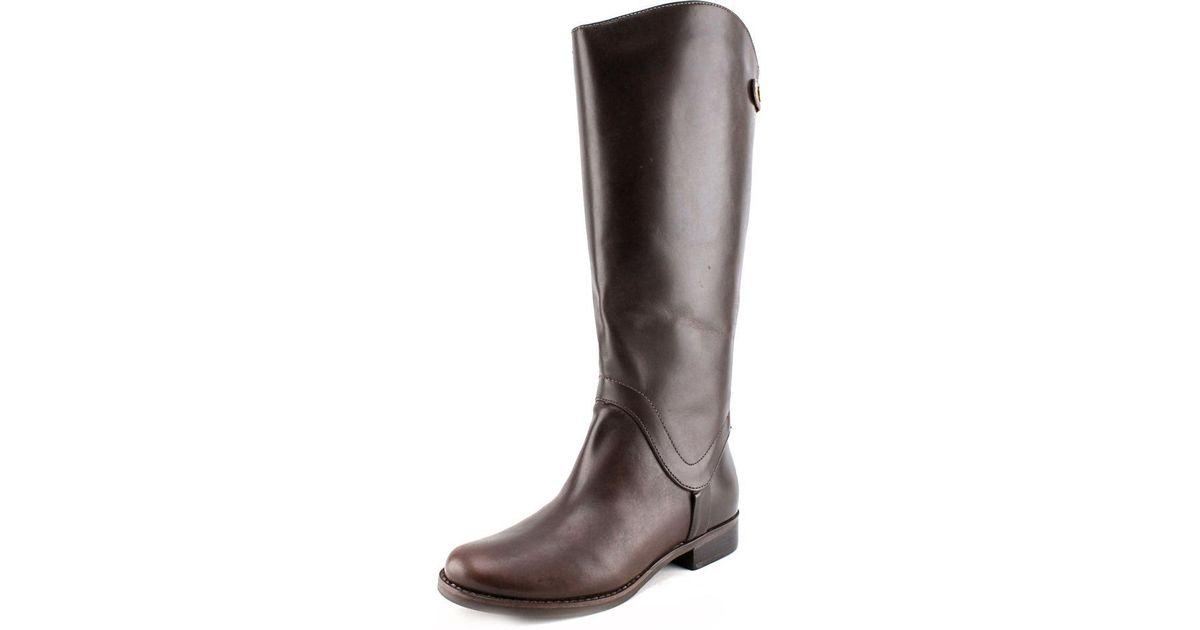 5b9a5c386bc Lyst - Steve Madden Steven Sady Wide Calf Women Us 6 W Brown Knee High Boot  in Brown