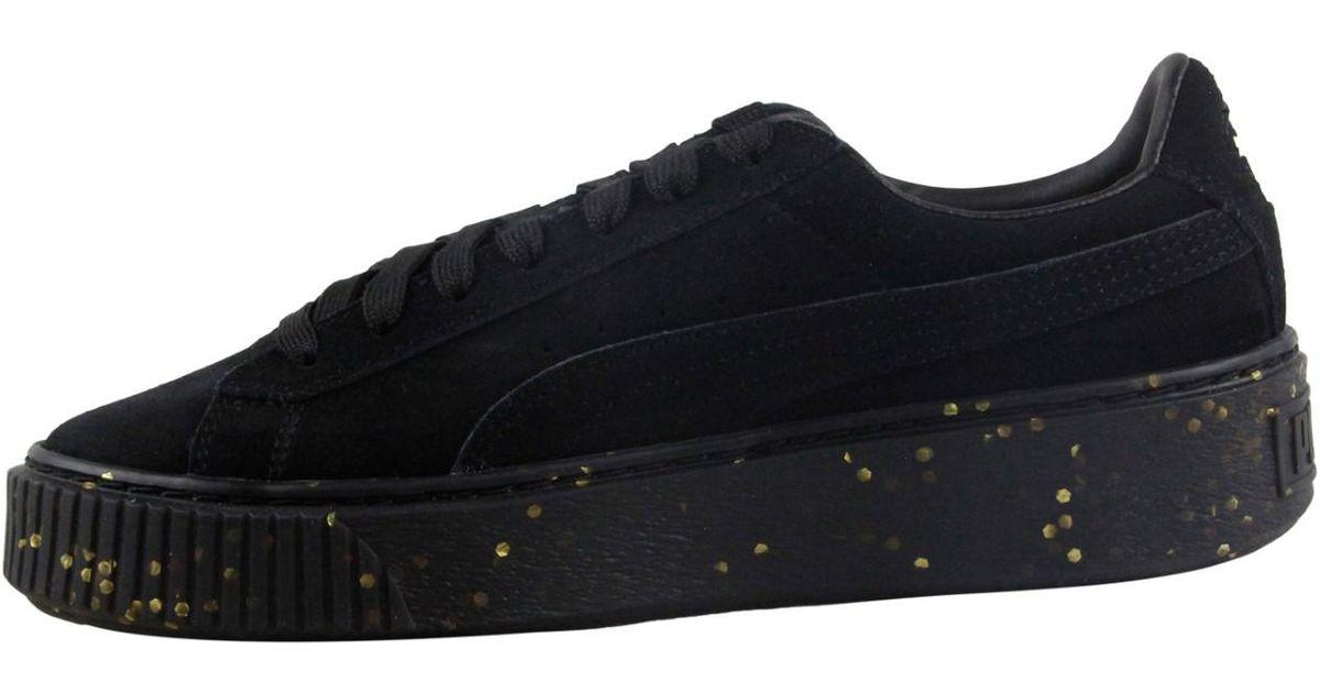 Platform Bboy Sneakers Puma In Up Lace Gold Fab Black Team Lyst Sw7q5q