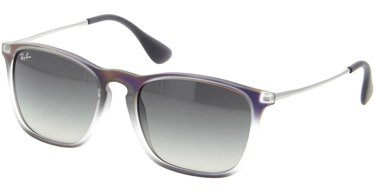 9a43df6d77 Lyst - Ray-Ban 0rb4187f 622311 54 Violet Shot On Black grey Gradient Dark  Grey Chris (f) Youngster Sunglasses in Gray
