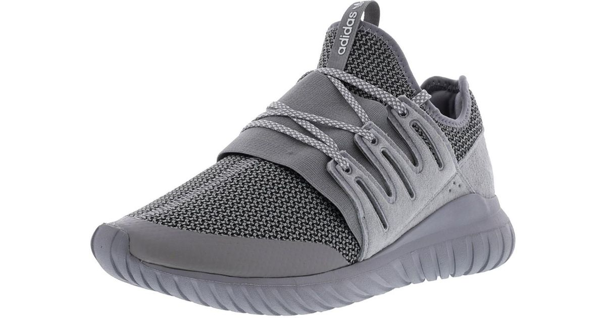 ea2dbb07177d Lyst - adidas Tubular Radial Charcoal Solid Grey   Ankle-high Fabric  Fashion Sneaker - 9.5m in Gray for Men