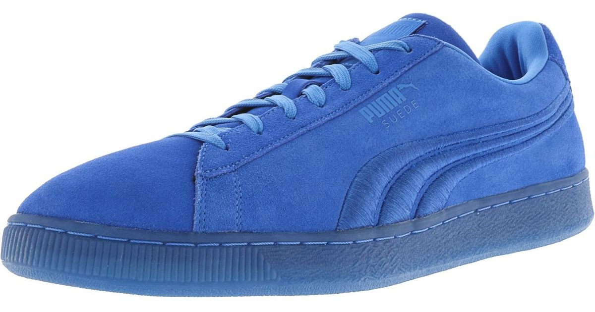 812d729e9784 Lyst - Puma Classic Badge Iced Suede Ankle-high Fashion Sneaker - 10.5m in  Blue for Men