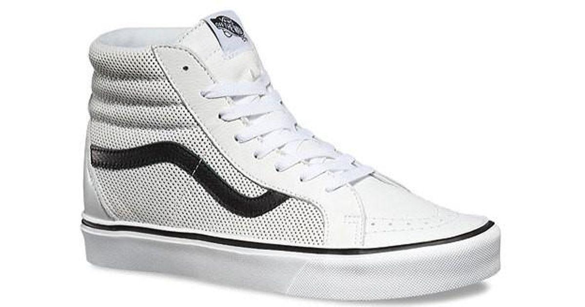 27fe65bba789f9 Lyst - Vans Unisex Sk8-hi Lite Perf Sneaker in White for Men