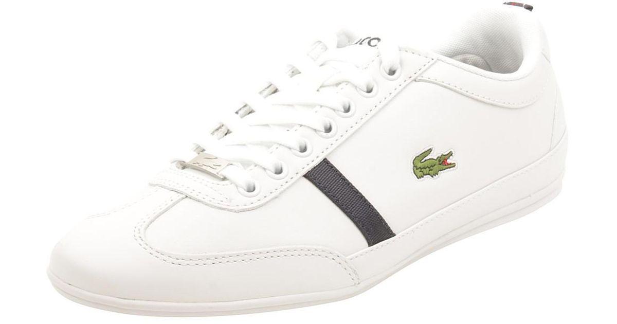 50ecb56dcf0e Lyst - Lacoste Misano Sport Mag Sneaker In White dark Blue in White for Men