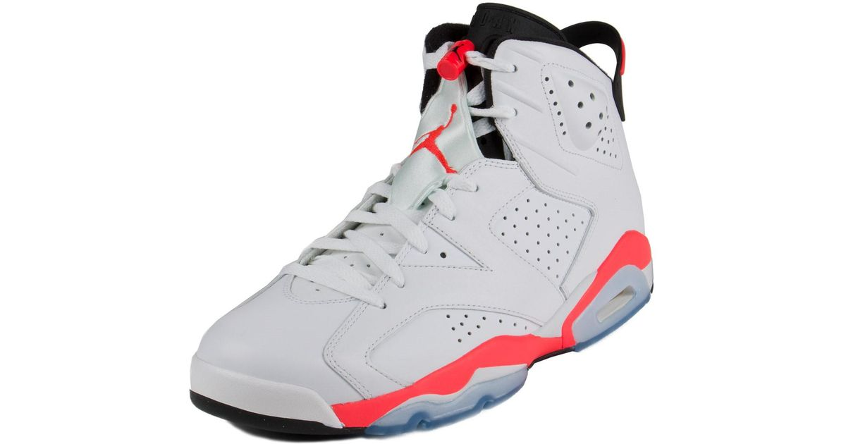 innovative design 2205d 8a408 Lyst - Nike Mens Air Jordan 6 Retro White infrared-black 384664-123 Size 13  in White for Men