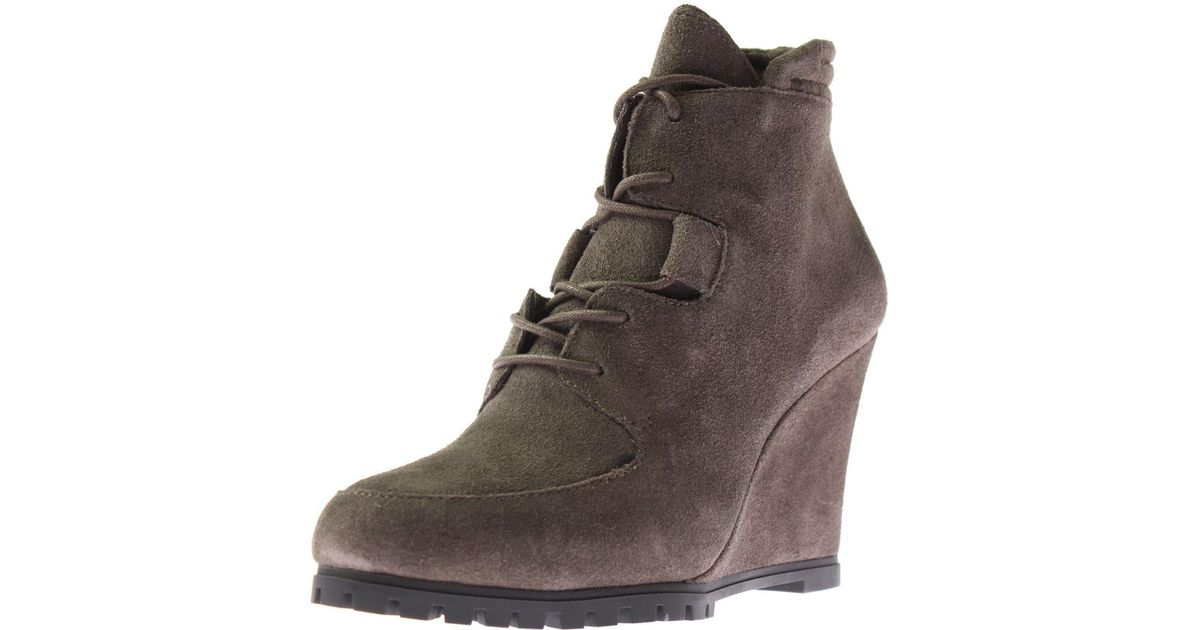 6e162c3f9bd Steve Madden - Brown Steven By Womens Warden Suede Bootie Wedge Boots - Lyst