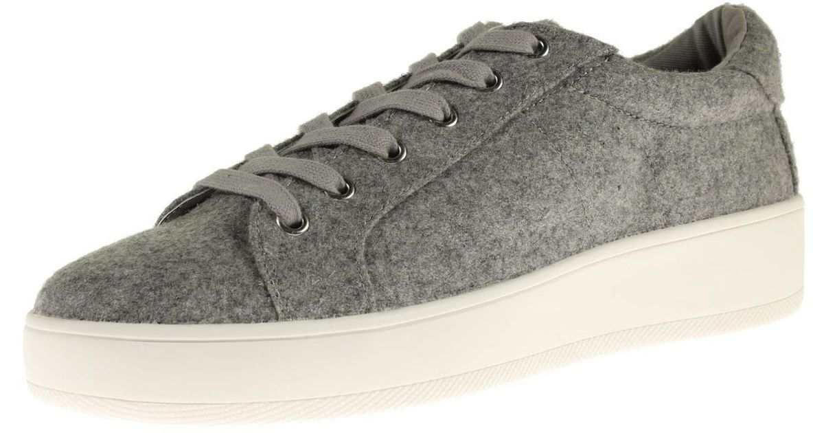 67420349921 Steve Madden - Gray Bertie-f Flannel Platform Fashion Sneakers - Lyst