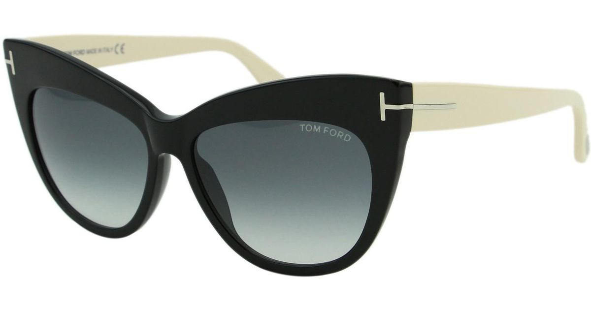 12024daffe Lyst - Tom Ford Ft0523 Sunglasses Shiny Black   Gradient Smoke in Black
